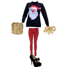 UGLY Xmas Sweater Outfit...@Rhea Trinanes ideas! (: lol