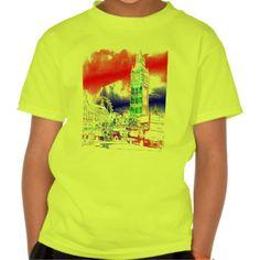 London Westminster Big Ben Tee Shirts