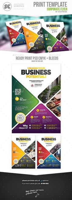 Business Cards And Flyers, Business Flyer Templates, Creative Flyer Design, Creative Flyers, Corporate Brochure Design, Corporate Flyer, Typo Design, Layout Design, Graphic Design