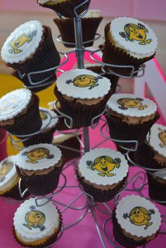 Cupcakes at a Little Miss Sunshine birthday party! See more party ideas at CatchMyParty.com!