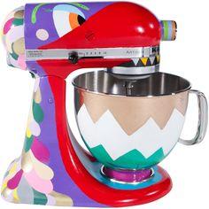 Batedeiras KitchenAid personalizadas em exposição de arte - Culinarístico
