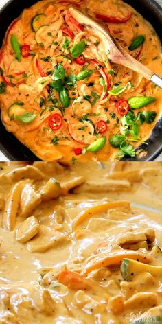 This less than 30 MINUTE Thai Red Curry Chicken tastes straight out of a restaurant! Its wonderfully creamy bursting with flavor so easy and all in one pot! Definitely a new fav at our house! # This less than 30 MINUTE Thai Red Curry. Healthy Dinner Recipes, Indian Food Recipes, Asian Recipes, Soup Recipes, Cooking Recipes, Red Curry Recipes, Cooking Box, Thai Chicken Recipes, Red Thai Curry Sauce Recipe