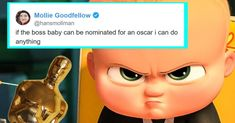 Twitter Responds Appropriately to The Boss Baby's Oscar Nomination #collegehumor #lol