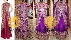 Purple color jacket lehenga - Replica Made by Panache Haute Couture