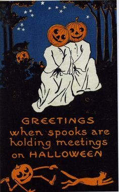 Love the light-hearted malevolence of vintage Halloween cards.