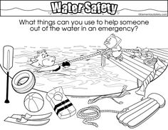 Ocean Activities, Art Activities For Kids, Preschool Activities, Teaching Safety, Teaching Plan, Teaching Aids, Life Skills Lessons, Swim Lessons, Safety Games