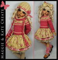 4-Seasons 11-Piece Outfit for Kaye Wiggs 18 MSD BJD by Maggie & Kate Create