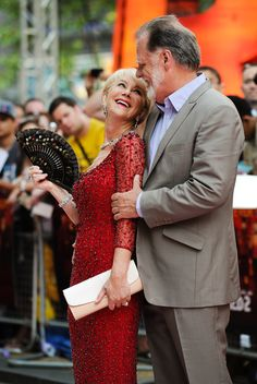 Helen Mirren and Taylor Hackford arriving the the premiere of Red 2 at The Empire Leicester Square in London - July 22, 2013 - Photo: Runway Manhattan/Goff Photos