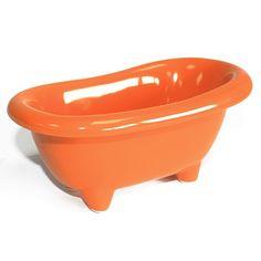 Mini Baños Cerámica - Naranja   AW Regalos