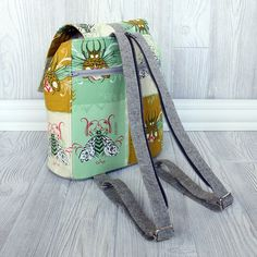 Swoon Lucy Backpack - Sewing pattern inspired by mini backpack purses of the 90s