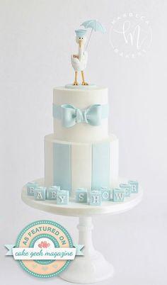 The Marbeca Bakery Stork cake Cake Geek Magazine Pastel de cigüeña Baby shower