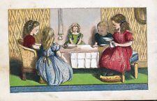 Просмотр товара: Кукла для девочек и чайные вечеринки, 1871 старинный chromolith печать