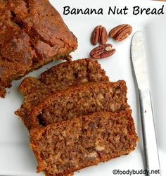 Eggless Banana Pecan Bread - they are moist, soft and delicious...Try ...