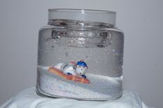 Christmas Gel Candles   home holiday gel candles snowman on tobogan gel candle
