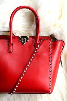 Valentino red - studded bag