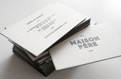 Print : Badcass - Design : les Bons Faiseurs - Carte de visite en letterpress - #débossage #couleursurtranches