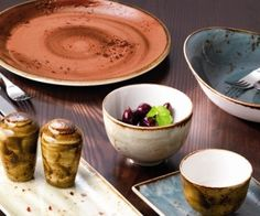 Steelite Craft - Amazing colours on the table, perfect for rustic table settings in Autumn and Winter!