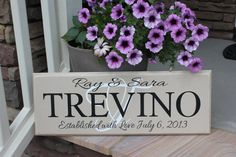 Personalized Family Last Name Sign