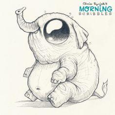 Cute art and monsters by artist Chris Ryniak