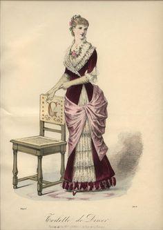 1882 LE COQUET magazine engraving