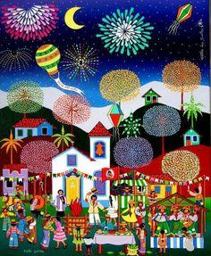 Ilustração de Festa Junina, Brasil