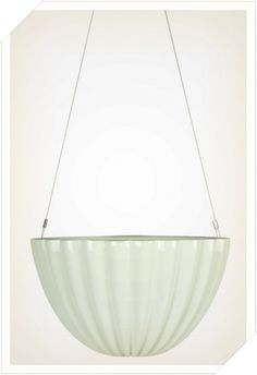 Oval Pleated Planter Green - Hanging Jelly Planters | Angus and Celeste