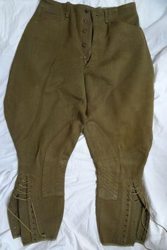 US Army WWII m1926 OD Wool Elastique Riding Breeches. He served with the 2nd Armored Division and the 69th Infantry Division. PICKUP: Pickup is available. | eBay!