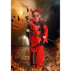 DisfracesMimo, disfraz de demonio para niño 1 a 2 años.es muy cómodo para vestir a los diminutos de la casa, y que puedan hacer mil travesuras en las fiestas temáticas de las guarderías, en halloween.Este disfraz de diabla es ideal para tus fiestas temáticas de disfraces de miedo y diablos para niños infantiles.