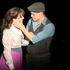 The most perfect broadway kiss I've ever seen