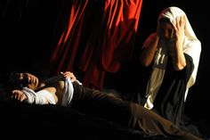 Actors of the Ludovica Carambelli Theater company prepare perform a representation of a painting by Caravaggio, during the Tableaux Vivants (Living Paintings) event at the Diocesan Museum in Naples on January 6, 2013. The theatre companys performance involves forming living representations of 21 different paintings by the famous Italian artist. AFP PHOTO / MARIO LAPORTA. Caravaggio, High Renaissance, Italian Artist, Art World, Art Tutorials, Madonna, Art History, Opera, Illustration Art
