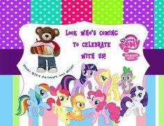 Birthday party teaser.... Build-a-bear & my little pony themed party