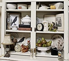 "What a lovely cupboard! I am usually not one for ""white"" but this is just beautiful."