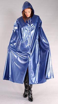 Cape Regencape Raincape Impermeable aus PVC navyblau in Kleidung & Accessoires, Damenmode, Jacken & Mäntel | eBay