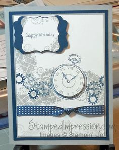 One of my favorite masculine cards. Made with Clockworks stamp set from Stampin' Up! Visit my blog for more inspiration.