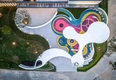 CIFI Rongchen Tianzhu by HWA – mooool Urban Landscape, Landscape Design, Playground Design, Children Playground, Paving Pattern, Photoshop Rendering, Outdoor Learning, Parking Design, Kid Spaces
