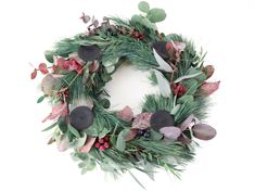 DIY Eukalyptus Kranz & Adventskranz ⋆ elfenweiss Doityourself Adventskranz Eukaplytus-Kranz Kranz Türdekoration diy scandi Skandinavische Dekoration InterieurRoségold Braut Haarteil Braut Haar Rebe H. Diy Wreath, Door Wreaths, Grapevine Wreath, Porte Diy, Diy 2019, Xmax, Eucalyptus Wreath, Grape Vines, Christmas Wreaths