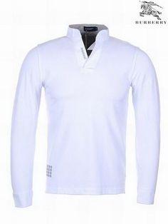 0387b05066d Burberry London V-Neck Long Sleeve Men s Polo Shirt White Canada Sale. Cheap  Ralph Lauren PoloPolo Ralph Lauren OutletOutlet UkOutlet StorePolo ...
