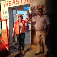 Con Olga Rodriguez en Melo, Cerro Largo inaugurando una nueva Casa de Vamos Uruguay