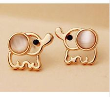 Fashion Lovely Cute Baby Elephant Cat Umbilicaria Stud Earring Jewelry E01