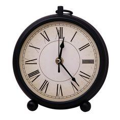 PREMIERHOUSEWARES - Black Metal Mantle Clock: 2200399 on eBay!