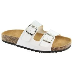 Women Casual Buckle Straps Sandals 06 US (White-B)