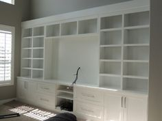 Room built ins, living rooms, living spaces, diy entertainment center, Entertainment Wall Units, Entertainment Center Kitchen, Ikea Boys Bedroom, Living Room Built Ins, Tv Decor, Home Decor, Biarritz, Built In Bookcase, Living Spaces