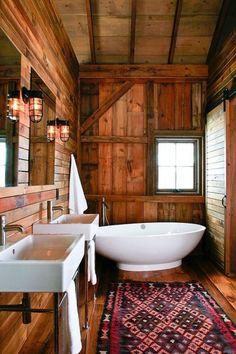 Rustic bathroom luxury