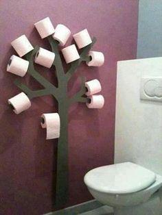 Interesting toilet paper holder