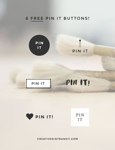 Free custom Pinterest buttons to get your blog content pinned & noticed! Plus a guide on how to install the Pin It button on WordPress.