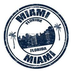 Grunge Stempel mit dem Namen Miami Stadt von Florida nach innen geschrieben, illustration photo