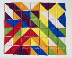 Tangram-esque Fabric Puzzle