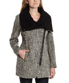 Look what I found on #zulily! Gray & Black Wool-Blend Coat by Steve Madden #zulilyfinds