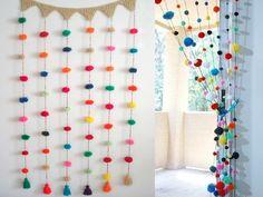 Crochet and pompoms Diy And Crafts, Crafts For Kids, Arts And Crafts, Craft Projects, Projects To Try, Pom Pom Crafts, Diy Room Decor, Room Decorations, Handmade