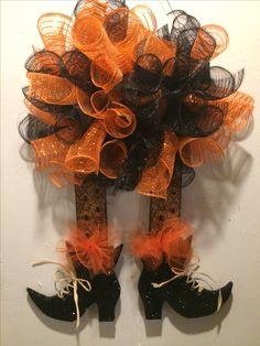 Deco mesh witch legs